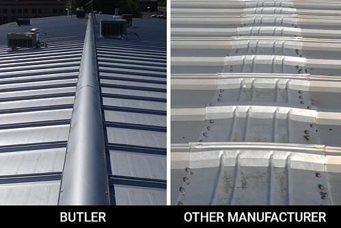 ACE Butler Manufacturing Roof Ridge Closure compared to other manufacturer's