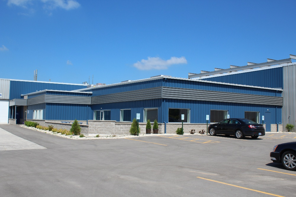 Office or manufacturing building constructed from pre-engineered metal from Butler manufacturing