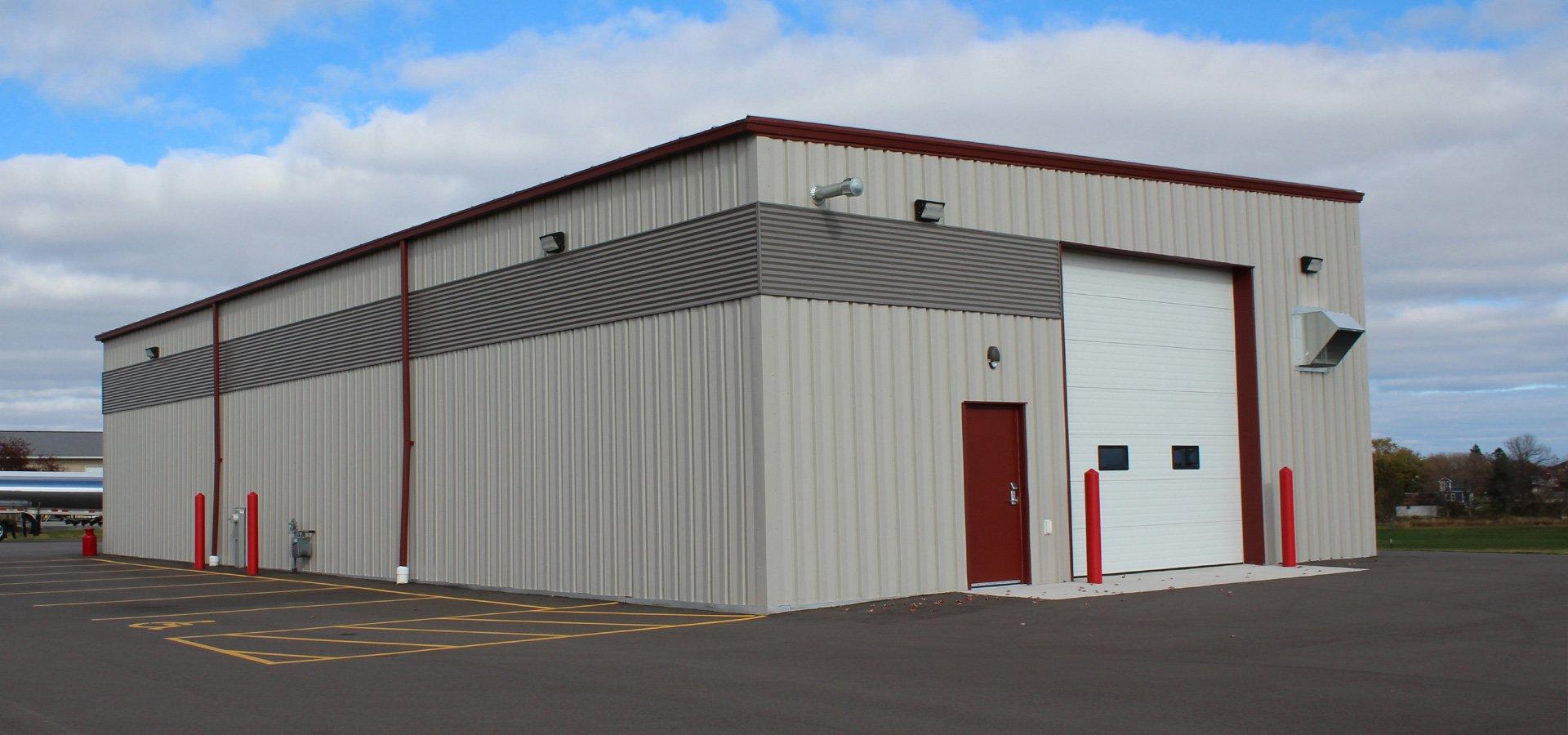 Fleet Maintenance Shop Full Exterior Angle Shot