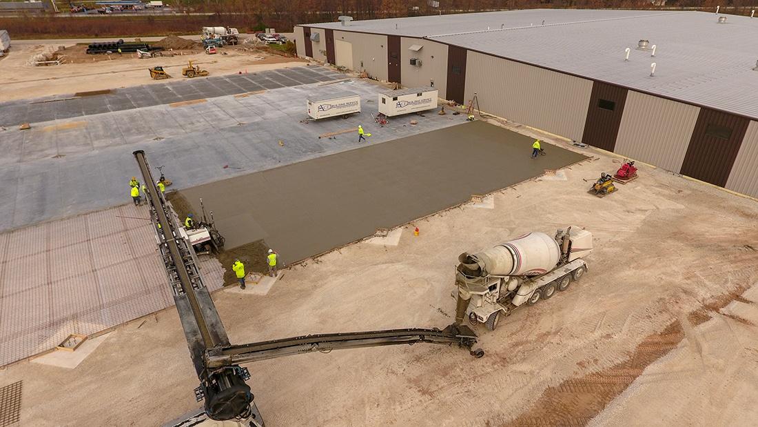 Concrete Pour | ACE Building Service | Manitowoc