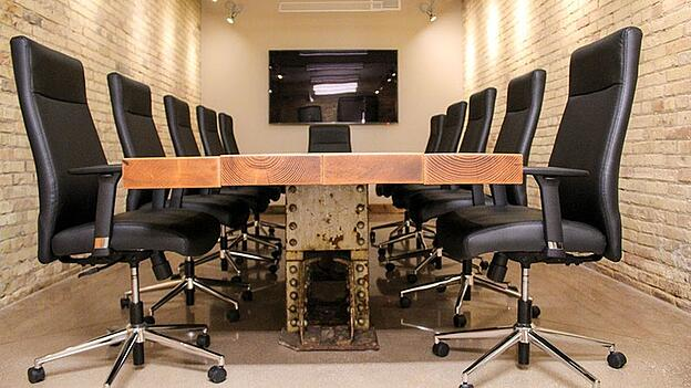 Wisconsin Aluminum Foundry custom salvaged wood conference table