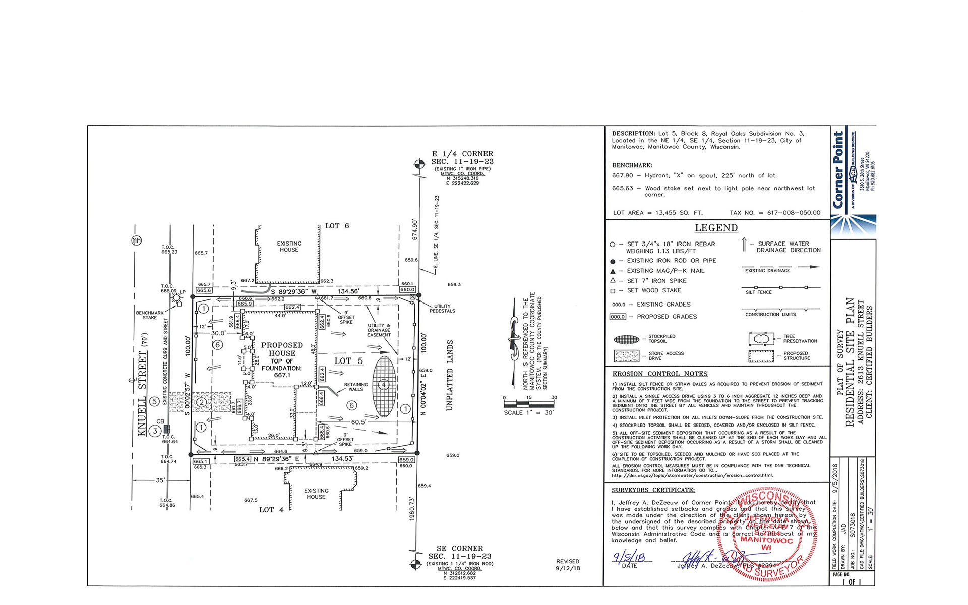 Certified Builders Residential Site Plan | ACE Building Service
