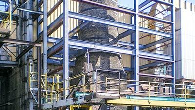 Red Arrow Stack Enclosure | A.C.E. Building Service