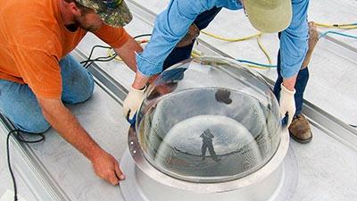 Orion Light Pipe Installation | A.C.E. Building Service
