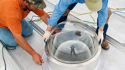 Light Pipe Installation | A.C.E. Building Service